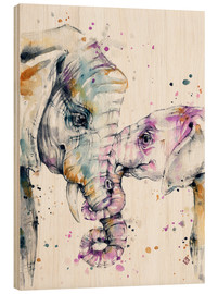 Holzbild  That Type Of Love (elephants) - Sillier Than Sally