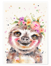 Premium-Poster Little Sloth