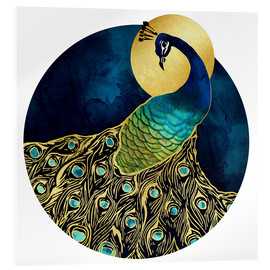 Acrylglasbild  Goldener Pfau - SpaceFrog Designs