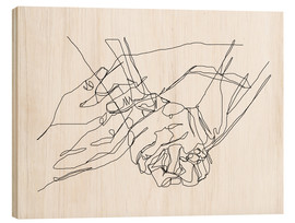 Holzbild  Caress and Crush - Sophie Schultz