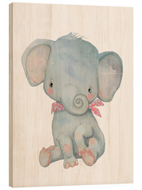 Holzbild  Mein kleiner Elefant - Kidz Collection