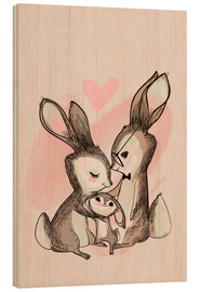 Holzbild  Familie Hase - Kidz Collection