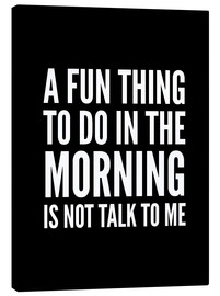 Creative Angel - A Fun Thing To Do In The Morning Is Not Talk To Me Black