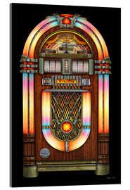 Acrylglasbild  Vintage Jukebox - Michael Fishel