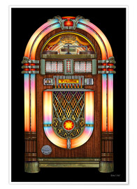 Premium-Poster  Vintage Jukebox - Michael Fishel