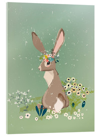 Acrylglas  Hase mit Wildblumen - Kidz Collection