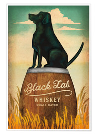 Poster Black Lab Whiskey