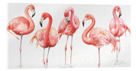Acrylglas  Rosa Flamingos VIII - Lisa Audit