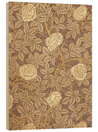Holzbild  Rosen - William Morris