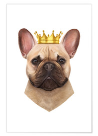 Premium-Poster King French Bulldog