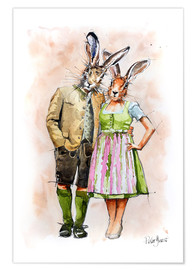 Poster RABBIT PAIR