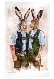 Acrylglasbild  GAY RABBITS - Peter Guest
