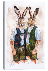 Leinwandbild  GAY RABBITS - Peter Guest