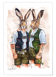 Premium-Poster  GAY RABBITS - Peter Guest