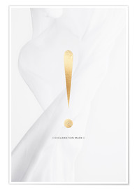 Premium-Poster AUSRUFEZEICHEN GOLD LETTER COLLECTION