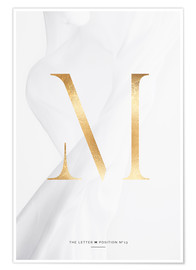 Premium-Poster GOLD LETTER COLLECTION M