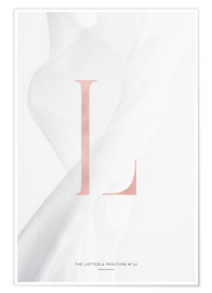 Premium-Poster ROSEGOLD LETTER COLLECTION L