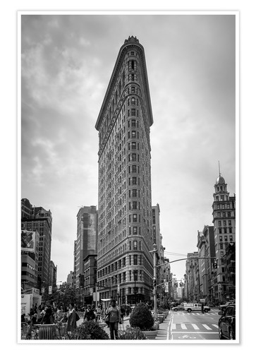 Premium-Poster Flatiron Building in New York City