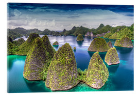 Acrylglasbild  Raja Ampat in Indonesien - Jones & Shimlock