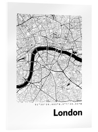 Acrylglasbild  Stadtplan von London - 44spaces
