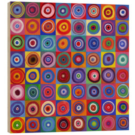 Holzbild  Square Circle 64 nach Kandinsky - David Newton