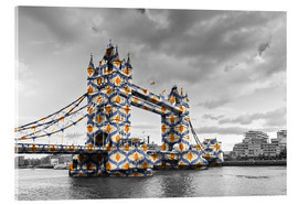 Acrylglasbild  Tower Bridge Colour Pop