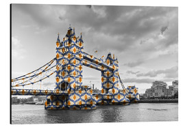Alubild  Tower Bridge Colour Pop