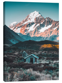 Leinwandbild  Hütte am Mount Cook in Neuseeland - Nicky Price