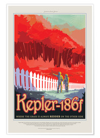Premium-Poster Retro Space Travel - Kepler186f