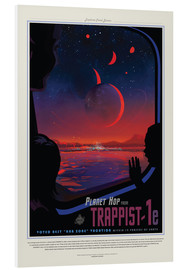 Hartschaumbild  Retro Space Travel ? Trappist-1e