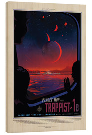 Holzbild  Retro Space Travel ? Trappist-1e