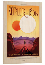 Holzbild  Retro Space Travel ? Kepler16b