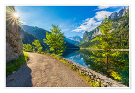 Premium-Poster Sommer am Gosausee