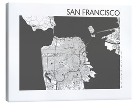 44spaces - Stadtplan von San Francisco
