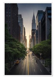 Premium-Poster New York City Sonnenuntergang