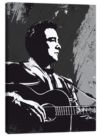 Leinwandbild  Johnny Cash black and white art - 2ToastDesign