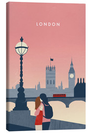 Leinwandbild  London Illustration - Katinka Reinke