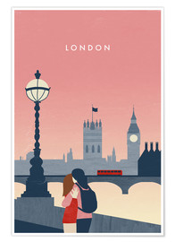 Premium-Poster  London Illustration - Katinka Reinke