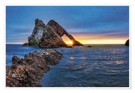 Premium-Poster  Sonnenaufgang am Bow Fiddle Rock - Reemt Peters-Hein