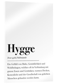 Acrylglas  Definition Hygge Deutsch - Johanna von Pulse of Art