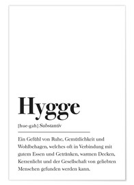 Premium-Poster  Hygge Definition - Johanna von Pulse of Art