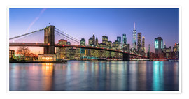 Premium-Poster Bunte Lichter in New York