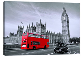 Art Couture - Red Bus auf Westminster Bridge