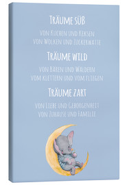 Leinwandbild  Träume wild - Kidz Collection